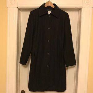 Women's Harve Benard wool blend long midi coat, 8